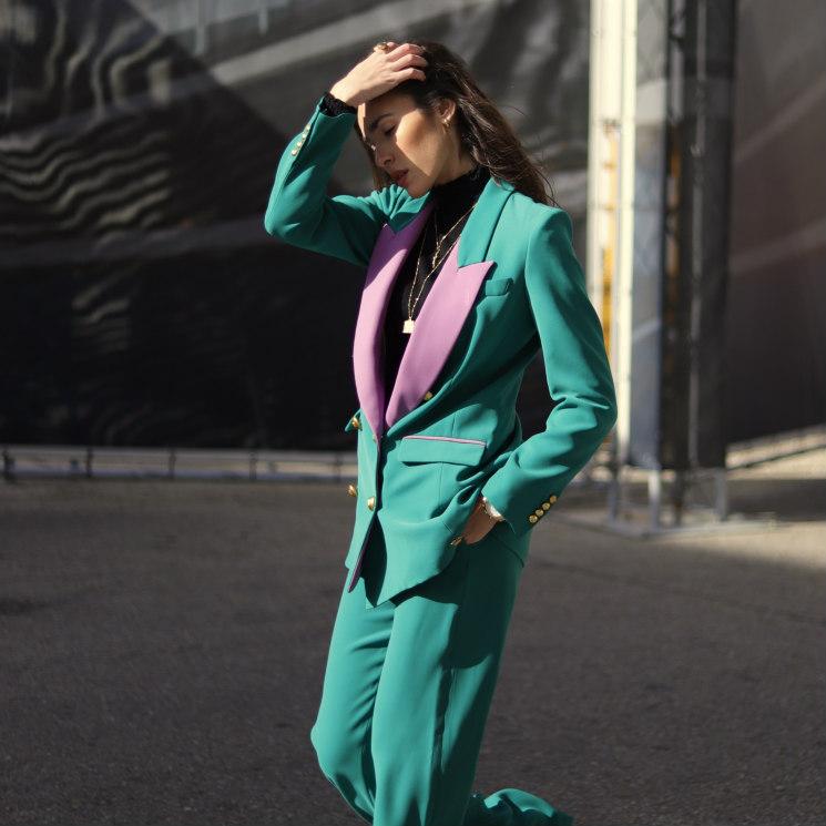 ¿Vestir de colores en invierno? Las mejores propuestas de las invitadas a Fashion Week Madrid