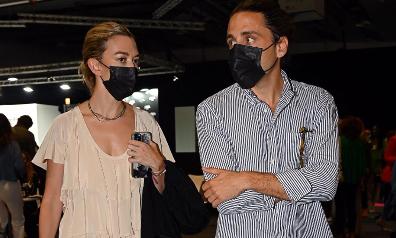 Marta Ortega, junto a su marido, no se pierde el regreso de su suegro Roberto Torretta a la cita con la moda